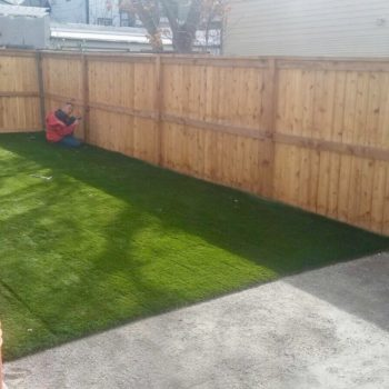 after artificial turf