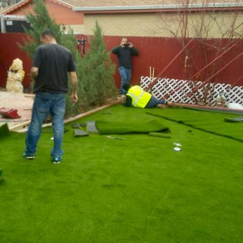 installing artifical turf