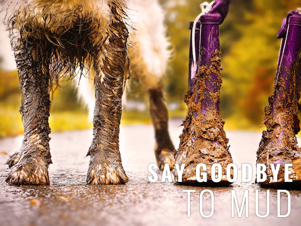say goodbye to mud with synthetic turf